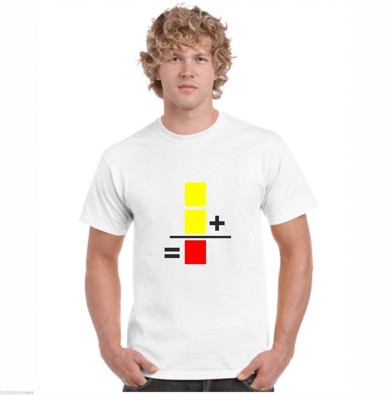 Deux Jaune Cartes Football Drole Blagues T Shirts T Shirts