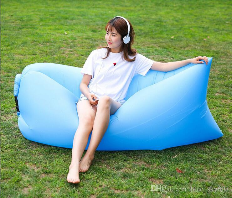 Inflatable Beanbag Sofa Lounge Sleep Bag Lazy Chair, Living Room Bean Bag Cushion, Outdoor Self Inflated Beanbag Furniture