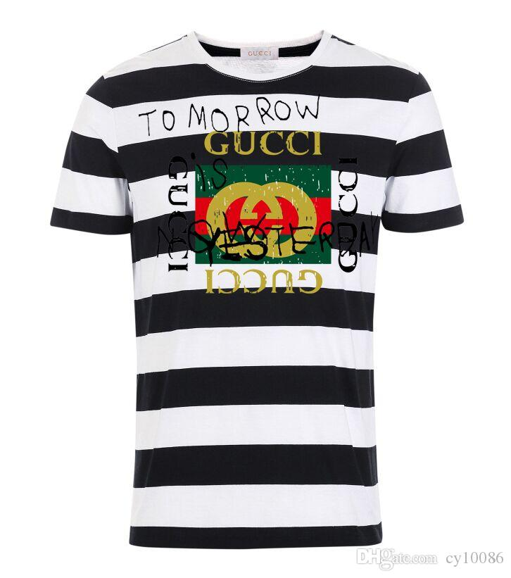 14d76c25874 2019 High Quality Summer Men Summer Short Sleeve Brand LOGO Print Casual  Classic 100% Cotton Slim Fit Breathable Famous Mens Stripe Polo Shirt From  Cy10086