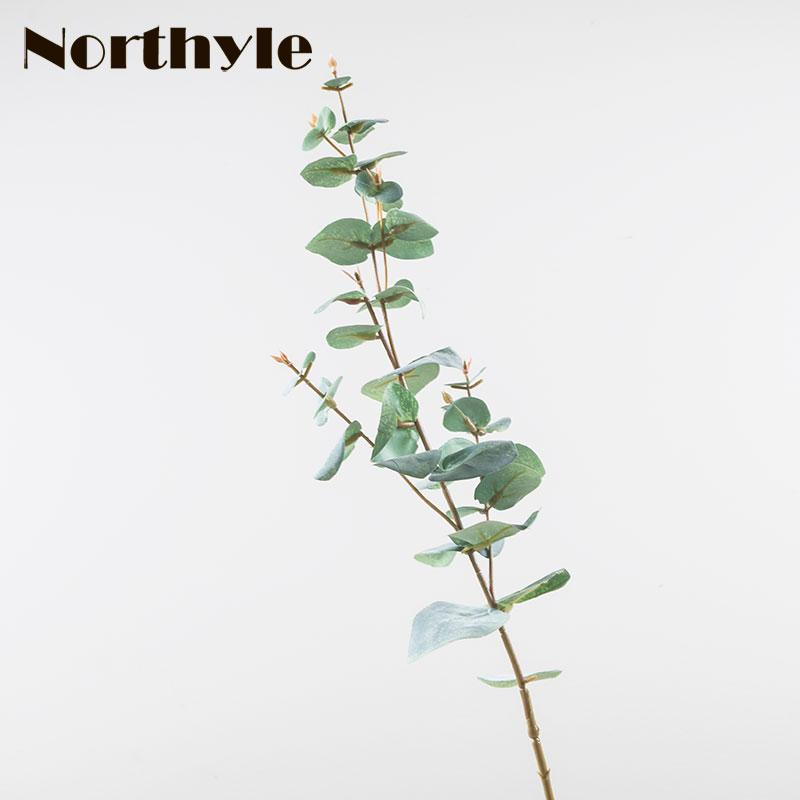 3 branches artificial eucalyptus - 26.77 length fake greenery grass Best Fake Greenery