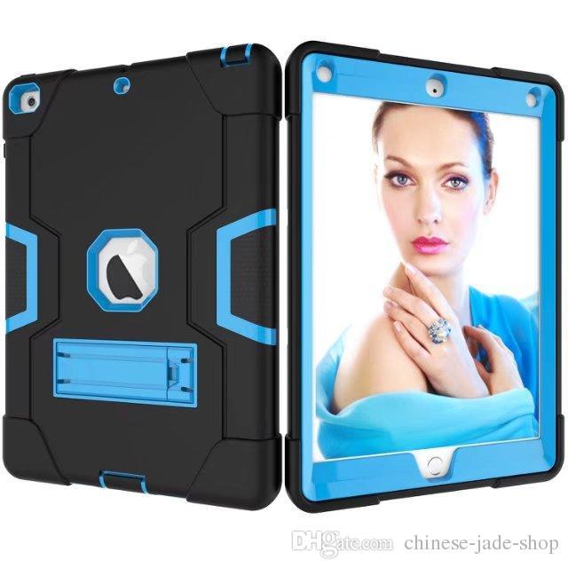 B Type PC + Siliconen Zware schokbestendige Kickstand Hybride Robot Case Cover voor iPad Pro 9.7 Air Air 2 /