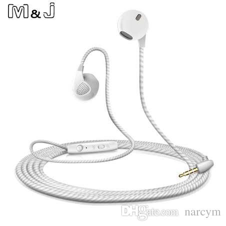 M&J High Quality Stereo Earphone Headphone For iPhone 6 6S With Microphone auricuares For apple Xiaomi sony Ear buds