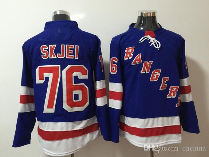 size 40 dd862 ffc87 New York Rangers Jerseys #76 Skjei 2018 New Hockey Jerseys Home Blue Color  Size M-XXXL Mix Order High Quality All Football Hockey Jerseys