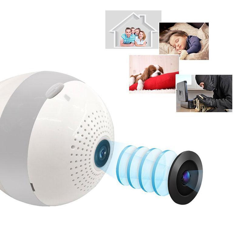 2 0mp Lampada Camera 360 Wifi Camera Fisheye Bulb Wireless Ip Cctv