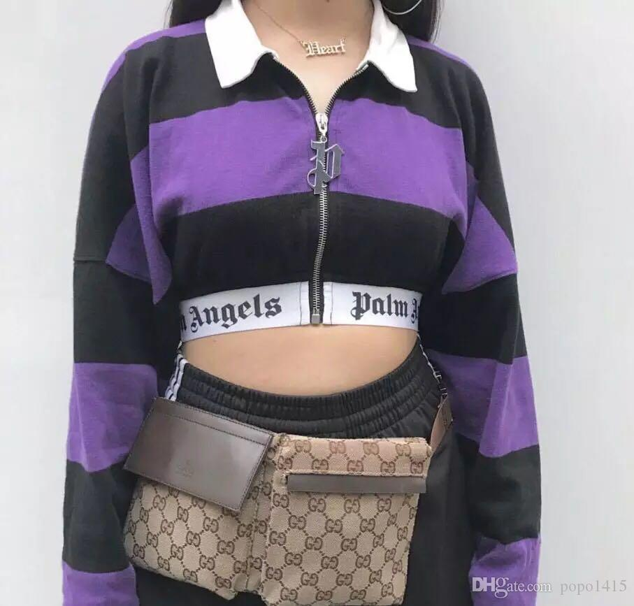 fe386b9f31d Palm Angels Women S Tight Fitting Body Close Up Navel Short Coat Color  Matching Coat Zipper Lapel Jacket S L Jackets Online Wool Jacket From  Popo1415
