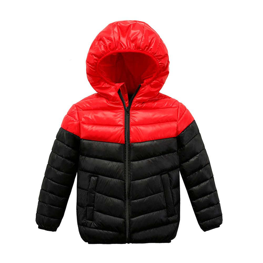 189bbf8f2 New Cartoon Kids Coat Boys Girls Thick Coat Padded Color Patchwok ...