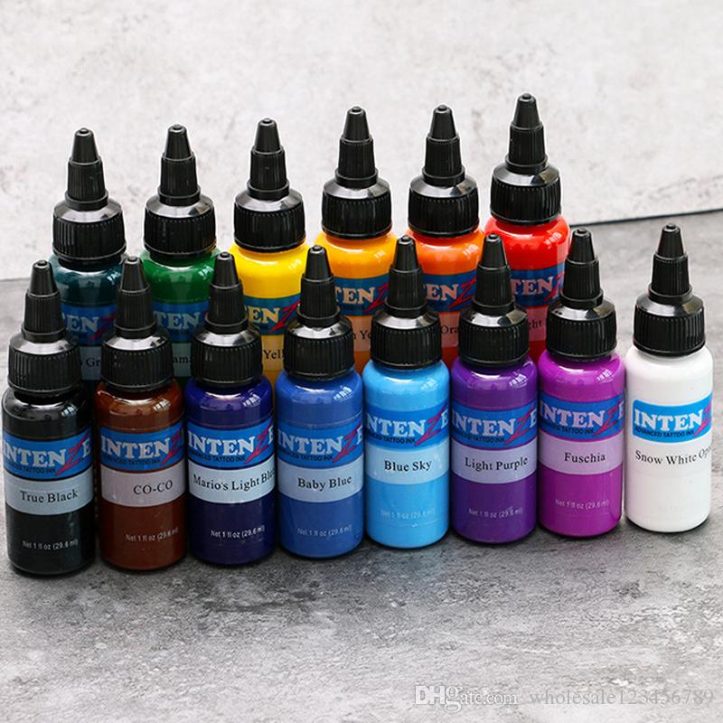 Tattoo Inks 30ml Natural Plant Permanent Makeup Tattoos Ink Pigment ...