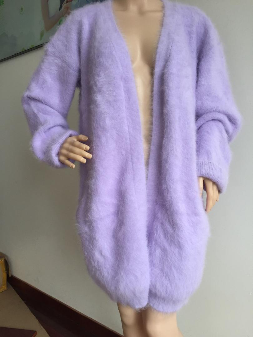 b5e905c389 2019 Very Very Low Price Inventory Clearance Sale Women Thick Fluffy 100% Mink  Cashmere Sweater Cardigan From Liangcloth