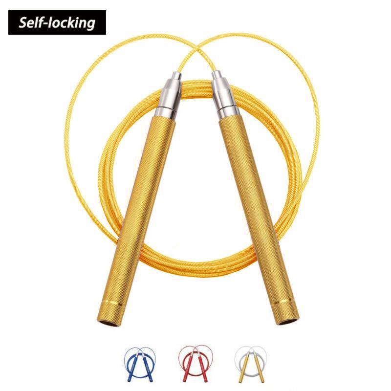 8c5e074b7 Compre Cuerda Para Saltar De Aluminio Fuerte De Alta Velocidad Ajustable  Spin Profesional De 360 grados Formación Profesional Con Tubo Antidesgaste  A ...