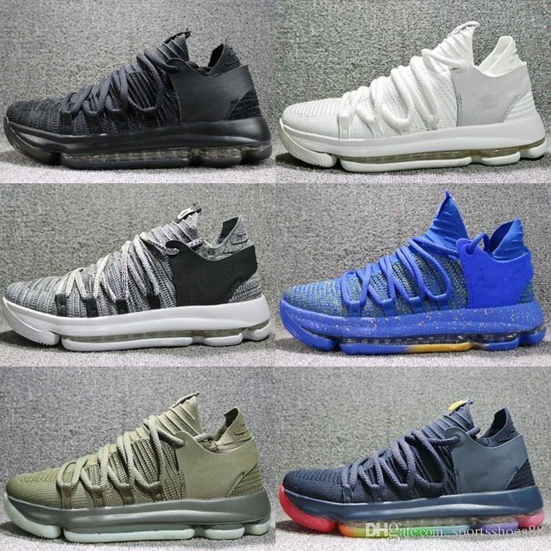 quality design 04e5a 0cef5 Cheap Brand 2018 New KD 10 EP Basketball Shoes Top Quality Kevin Durant X  Men 10S Rainbow Wolf Grey KD10 FMVP Athletic Sport Sneakers 40-46 KD 10  Basketball ...