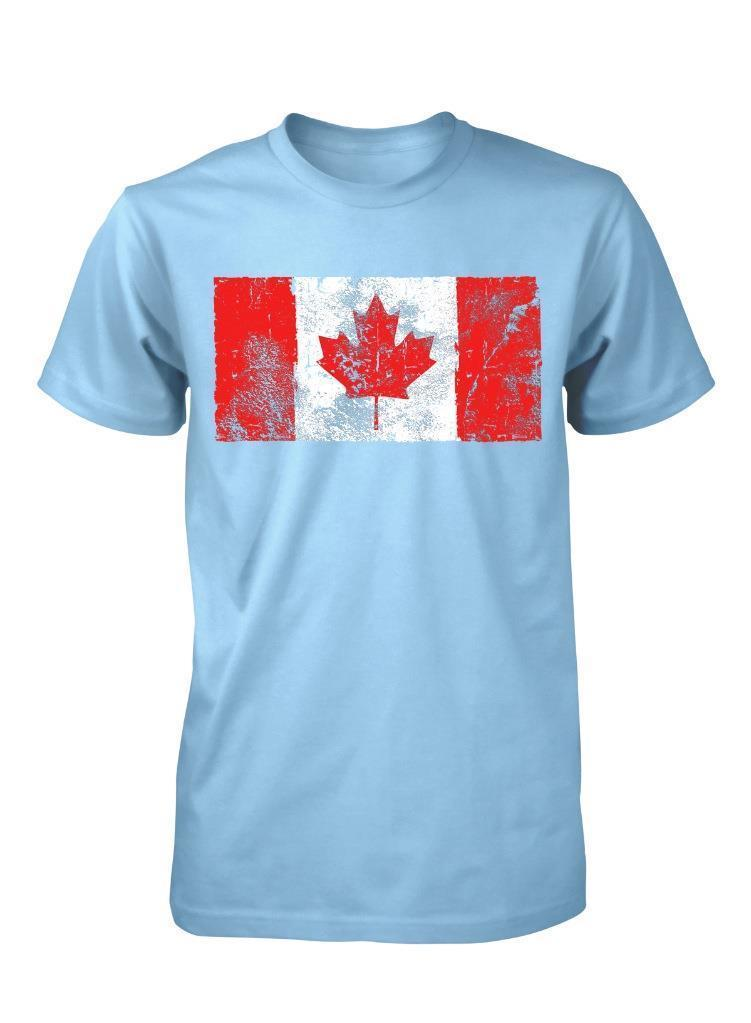 Bnwt Canadian Flag Canada Maple Leaf Emblem Distressed Print Adult T Shirt S Xxlfunny Free Shipping Unisex Casual Tee Gift