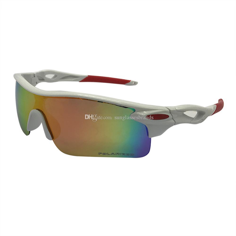 e142cafe65 Compre Diseñador De Lujo Para Hombre Gafas De Sol CAMINO Béisbol Gafas De Sol  Polarizadas Blanco / Rojo Golf Iridium Lens O Eyewear Envío Gratis OK98 A  ...