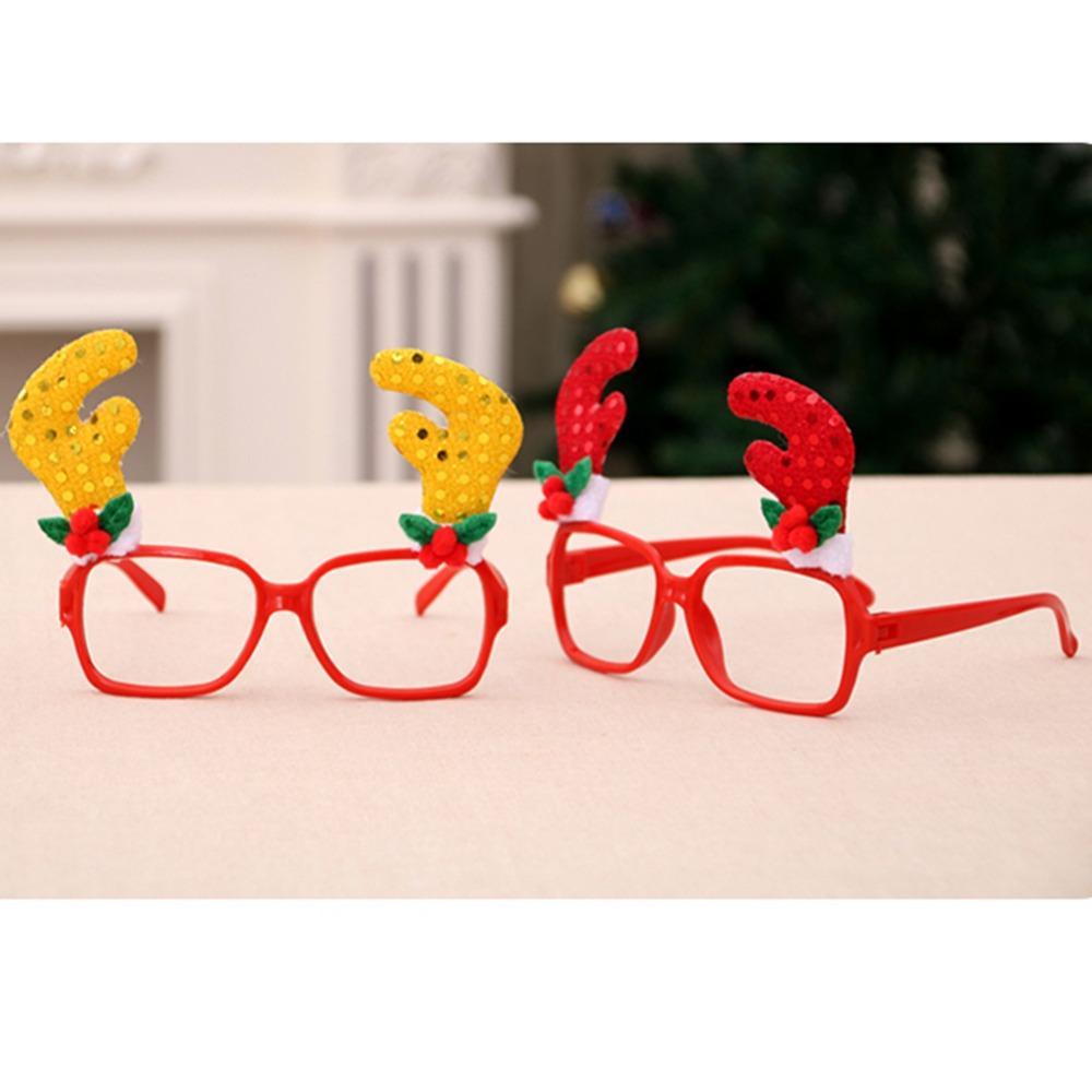 Christmas Frame Glasses Ornaments Snowman Santa Caus Glasses Adult Kids Sunglasses Xmas Gift Party Decorations Props