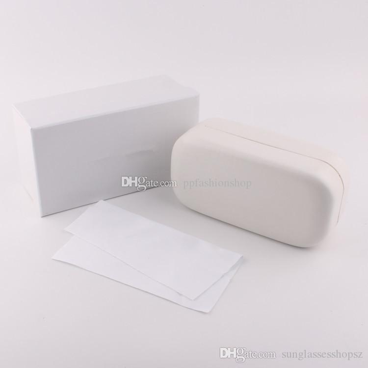 947183a78ae3 White High-End Glasses Case Luxury Leather Case Brand Box Case For ...