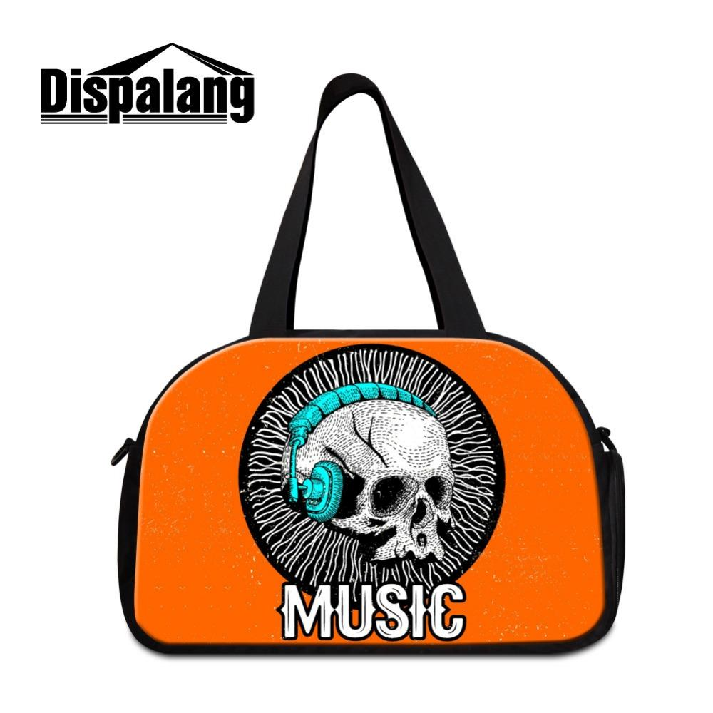 f658608caf Dispalang Cool Day Bags For Travel Ladies Skull Pattern Large Shoulder Duffle  Bags For Clothes Mens Big Journey With Pocket Bags Shop Designer Suitcase  From ...