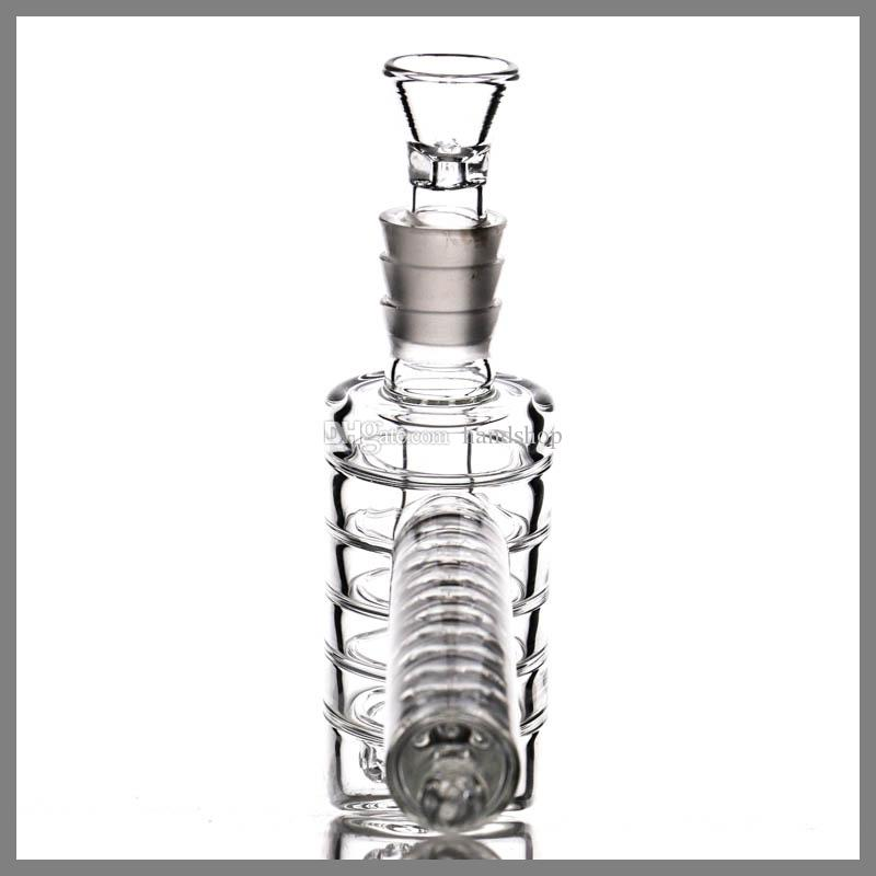 "Upline Hammer bubbler ""pyramid"" Glass Bong 8 cut disc diffuser downstem water pipe with stacked Percs waterpipe,"