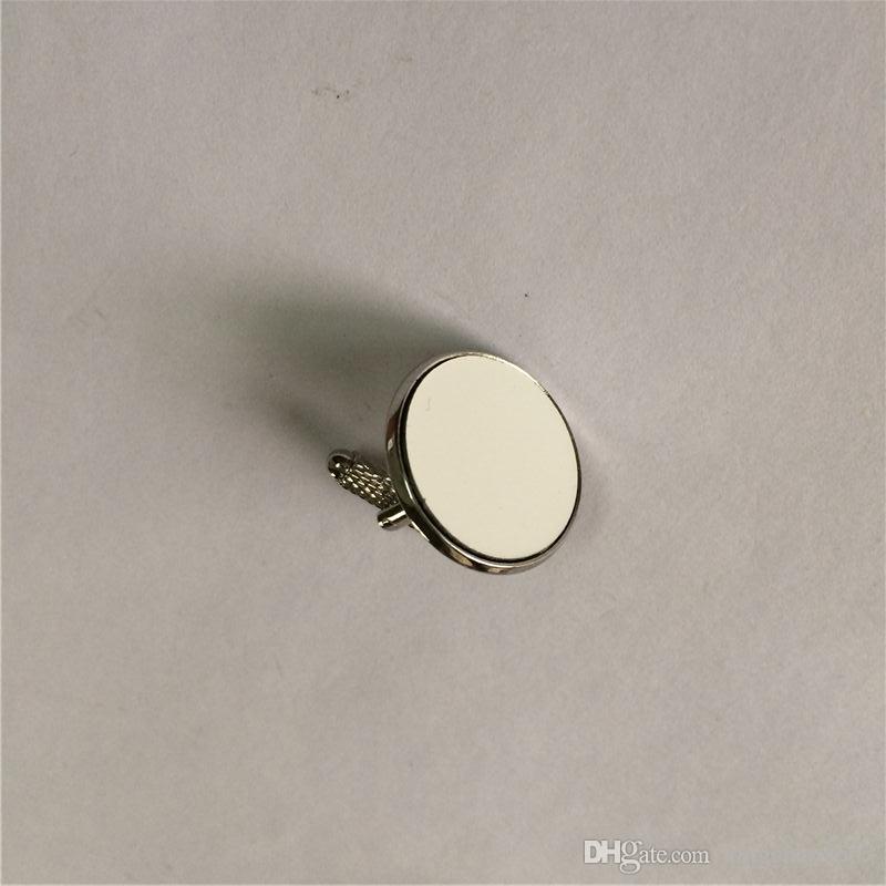 clips de corbata gemelos para sublimación en blanco Varillas roscadas de varilla para transferencia de calor impresión personalizada consumibles en blanco ventas al por mayor