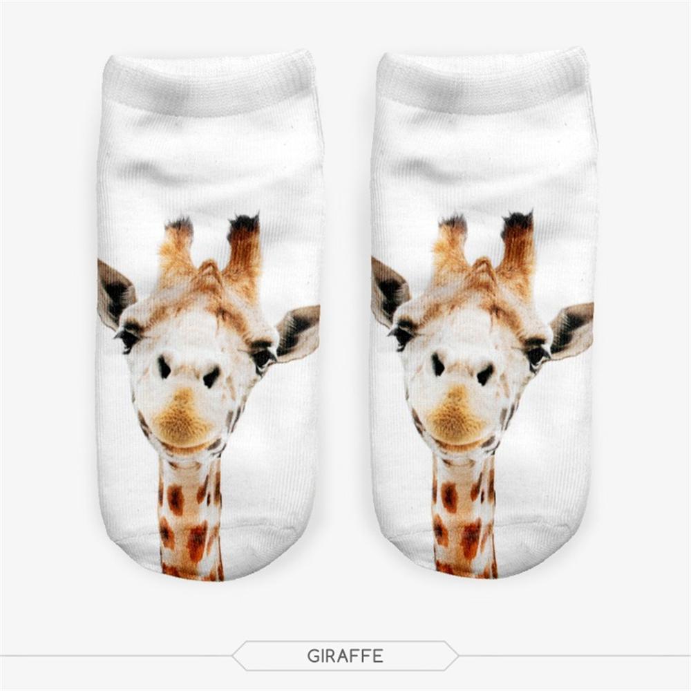 49d9a75f6a44d 2019 Meias 3D Women Socks Casual Cute Harajuku Funny Animal Giraffe Socks  Unisex Low Cut Ankle Multiple Colors From Piterr, $23.03 | DHgate.Com