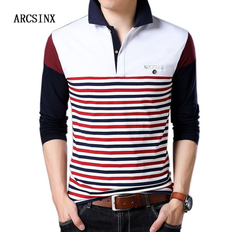 ec60d5fa 2019 ARCSINX Fashion Shirt Men Big Size Patchwork Striped Men'S S Autumn  Long Sleeve Man Cotton Male Shirt 5XL 4XL From Jellwaygood, $27.03 |  DHgate.Com