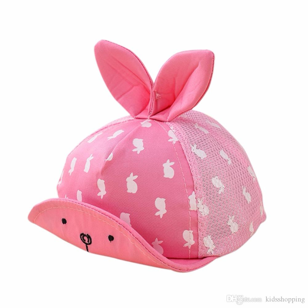 2019 NEW Cute Cartoon Printed Baby Caps Summer Hats For Infant Sun Hat With  Ear 2018 Sunscreen Baby Girl Hat Spring Baby Accessories Cap From  Kidsshopping b94173a24407