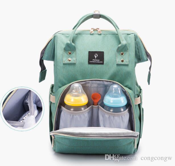 Nuevo Bebé multifuncional Mochila para pañales Mommy Bolsa cambiante Interfaz USB Mamá Mochila Panal Maternidad Mochilas Bolsas al aire libre