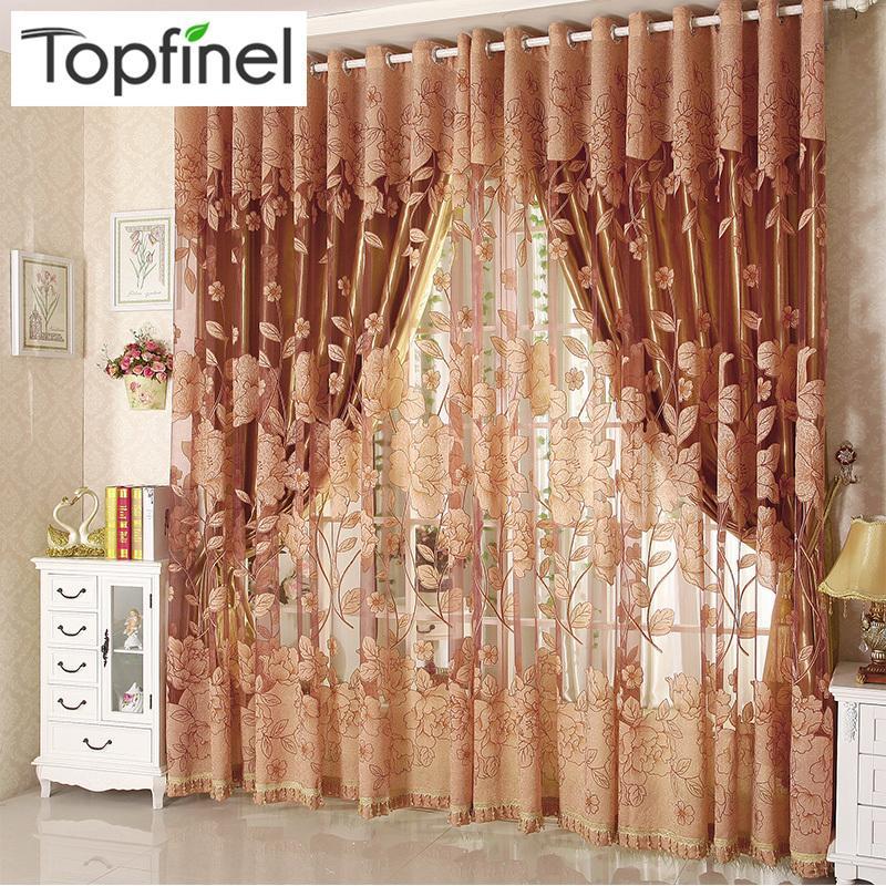 Top Finel Moderne Luxus Gestickte Gardinen Für Wohnzimmer Schlafzimmer  Küche Tür Tüll Fenster Vorhang Fenster Behandlungen