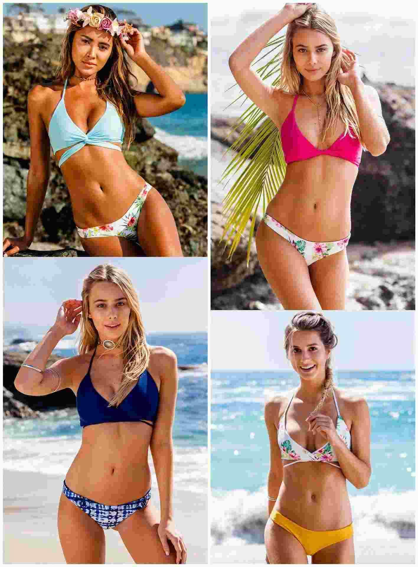 488b3df82272c Europe Digital Printing Low Waist Split Swimsuit Waist Backless Bikinis  Wholesale Manufacturers Swimming Suit Outdoor Sports Swimming Supplies  Online with ...