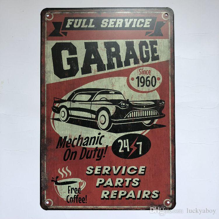 Full Service Garage Repair Vintage Rustic Home Decor Bar Pub Hotel Restaurant Coffee Shop home Decorative Metal Retro Metal Tin Sign
