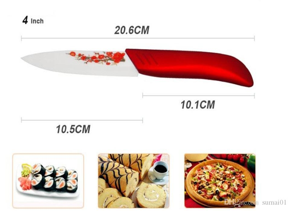"Beauty Gifts brand high quality a set Zirconia kitchen set Ceramic Knife tool Set 3"" 4"" 5"" 6"" inch + Peeler+Holder"