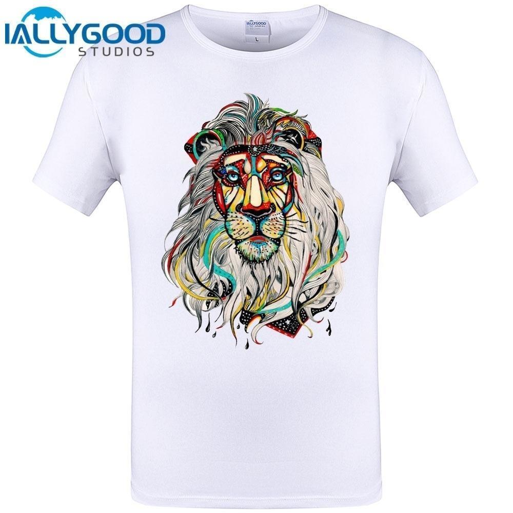29927e5319751f Großhandel 2017 Neueste Coole Lion Kopf Design Herren T Shirt Hipster  Lustige T Shirt Männer Tops T Marke Kleidung Neue Mode Von Amesion88