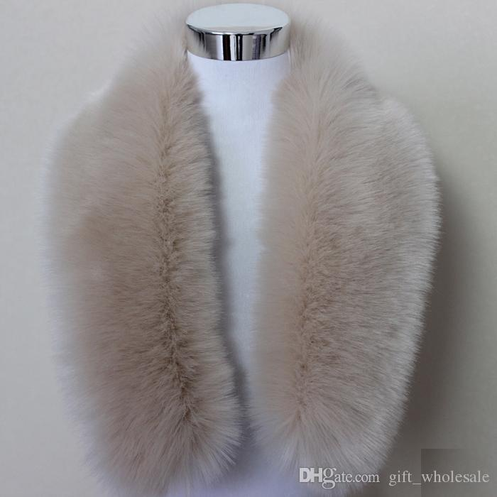 Hot Fashion Unisex Faux Fox Fur Collar Scarf Shawl Neck Men Women Wrap Stole Scarves Faux Raccoon Fur Winter Collar