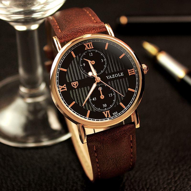 185e098fc12 Compre Yazole Relógio De Pulso Relógio De Pulso Dos Homens Top Marca De Luxo  Famoso Relógio Masculino Relógio De Quartzo Para Homem Relogio Masculino ...