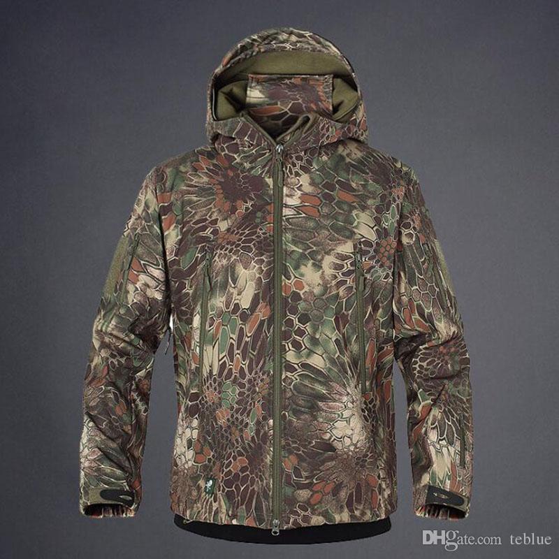 Shark Skin Outdoor Jacke Herren Softshell Waterpoof Camo Kleidung Tactical Camouflage Army Hoody Jacke Herren Wintermantel