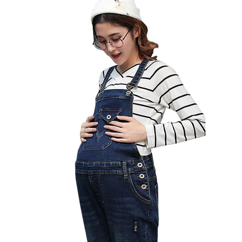 b6fcb746f77 2019 Braced Jeans Maternity Overalls Pants For Pregnant Women Denim  Jumpsuits Pregnancy Rompers Suspender Trousers Maternity Uniforms From  Newyearable