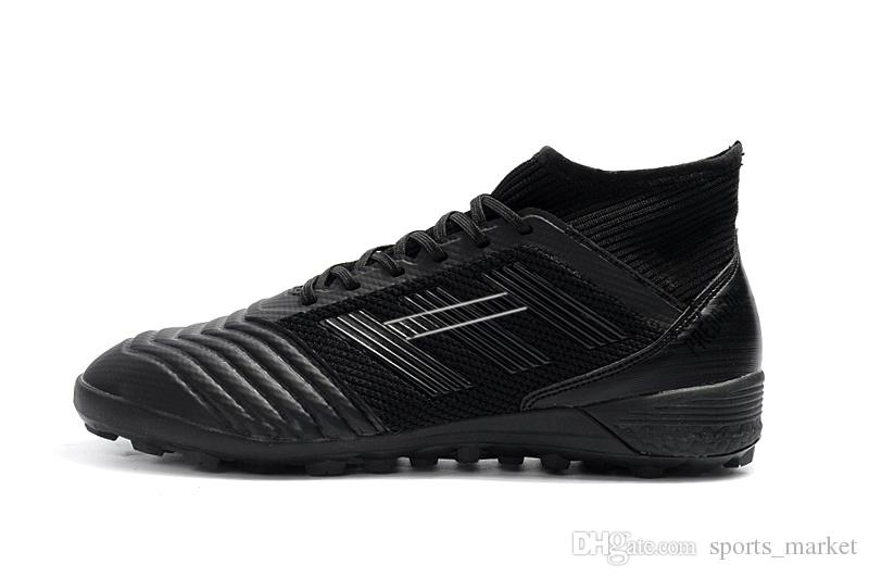 11641138b Full Black Predator Messi TF Indoor Soccer Shoes Original Predator Tango  Turf 18.3 Slip Up Soccer Cleats Canada 2019 From Sports market