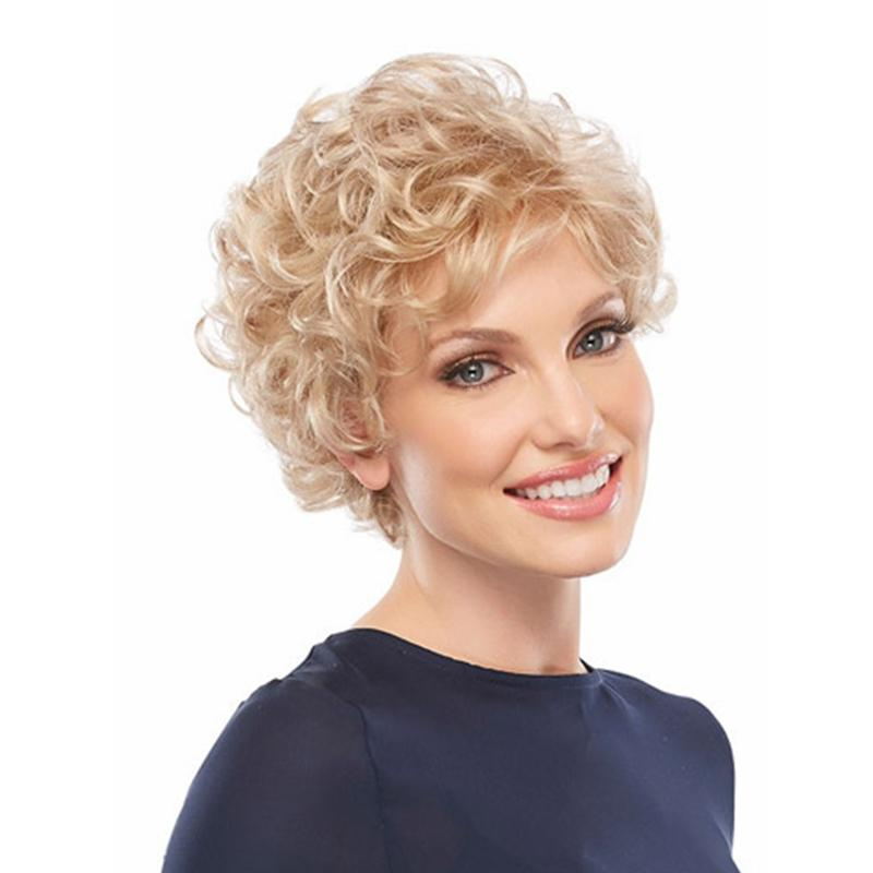 Natural Hair Wig Short Hair Big Curly Hairpieces Short Curls Synthetic Fiber Hair Replacement Wigs Afro Kinky Wigs for Women