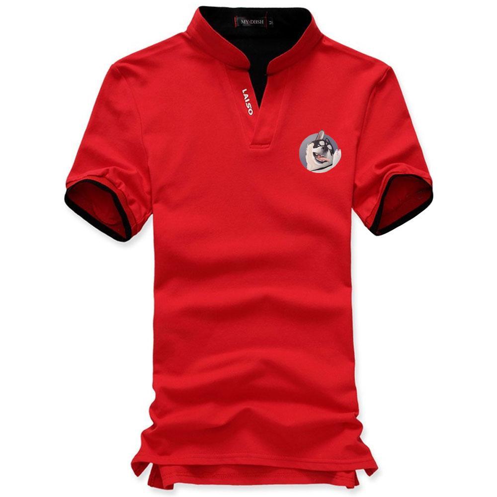 Compre Camisa De Marca Mens Camisa Polo Homens Design Criativo Husky  Siberiano Imprimir Polos De Manga Curta Camisas Polo Jerseys Golftennis  Tops De ... 55de576ab56e5