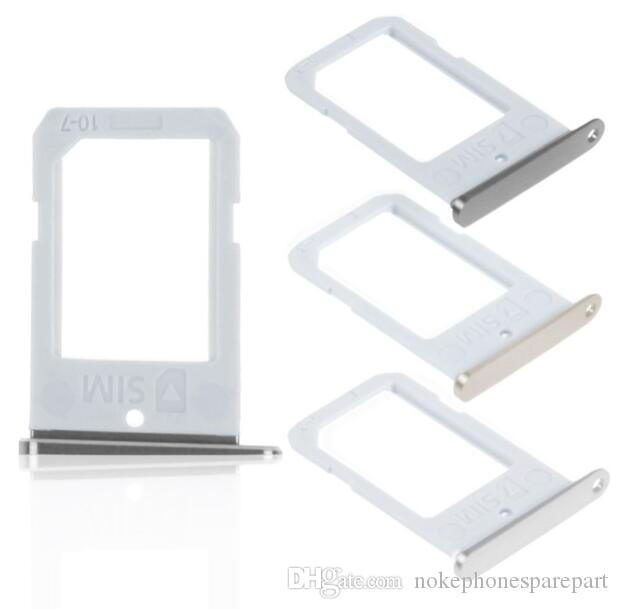 Repair Parts SIM Card Tray Slot Holder For Samsung Galaxy S6 Edge Replacement Case SIM Card Tray Adapter