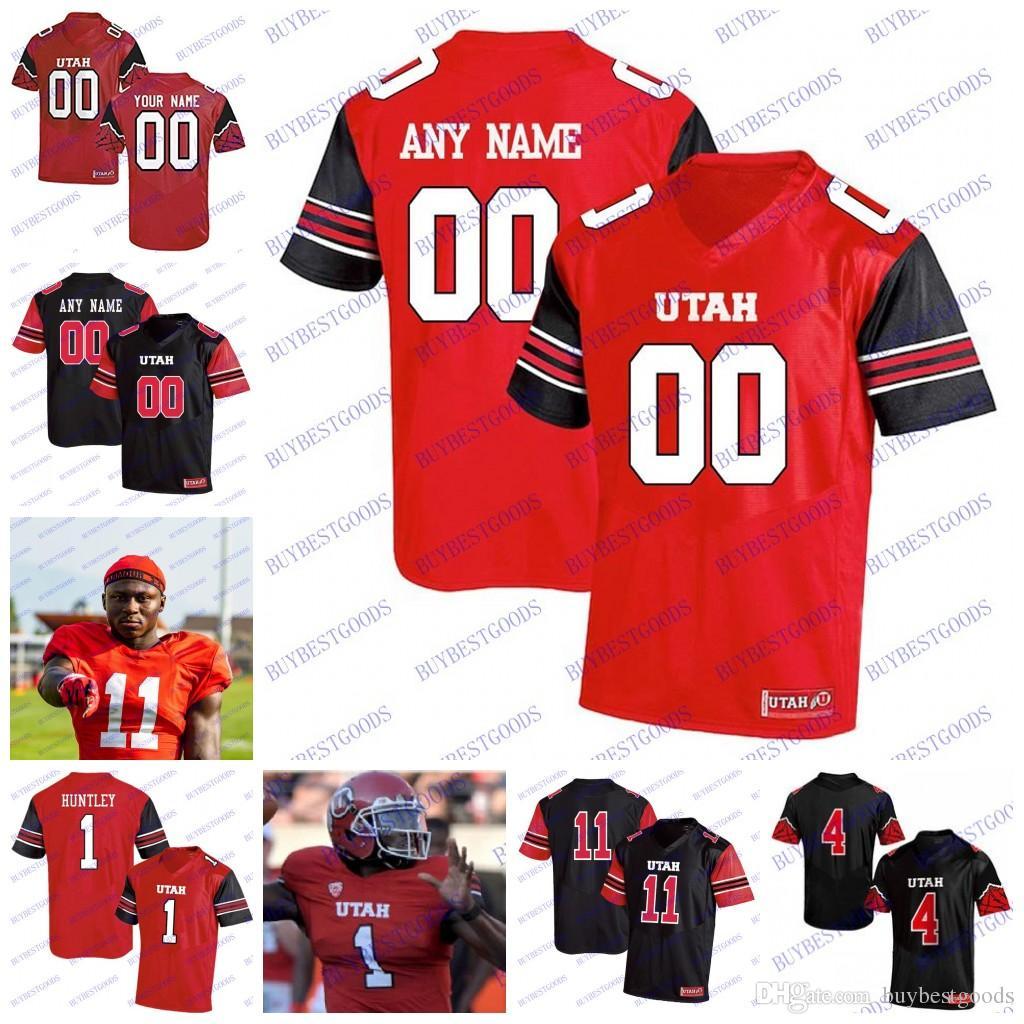 sale retailer b1e16 36afc Custom Utah Utes #1 Tyler Huntley 11 Alex Smith 2 Zack Moss 8 Siaosi  Mariner 80 Brant Kuithe Fotheringham NCAA College Football Jerseys