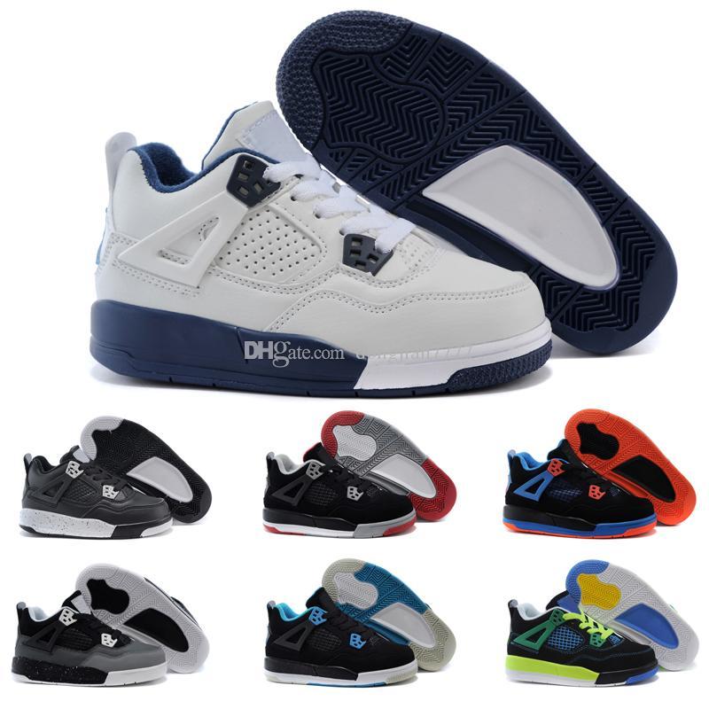 sélection premium bcc53 7c759 Nike air Jordan 4 13 retro Garçon Filles 12 12s Gym Rouge Hyper Violet  Violet Enfants Chaussures De Basketball Enfants Rose Blanc Bleu Gris Foncé  ...