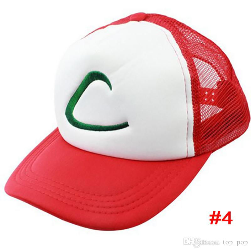 Pokes Chapeau Cosplay Anime Poche Monstre Ash Ketchum Baseball Trainer Cap Chapeau Cadeau Cool À La Mode XL-H01