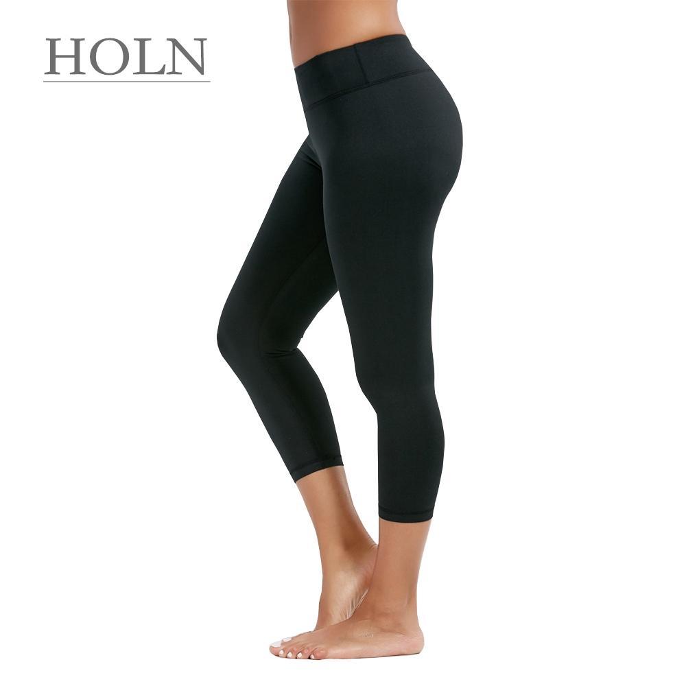 27e028835f7e4 2019 HOLN Yoga Suit, Summer Women'S Sports Fitness Yoga Pants, Running  Leggings, Tight, High Waist, Breathable, Thinning Capri Pants From Holn, ...