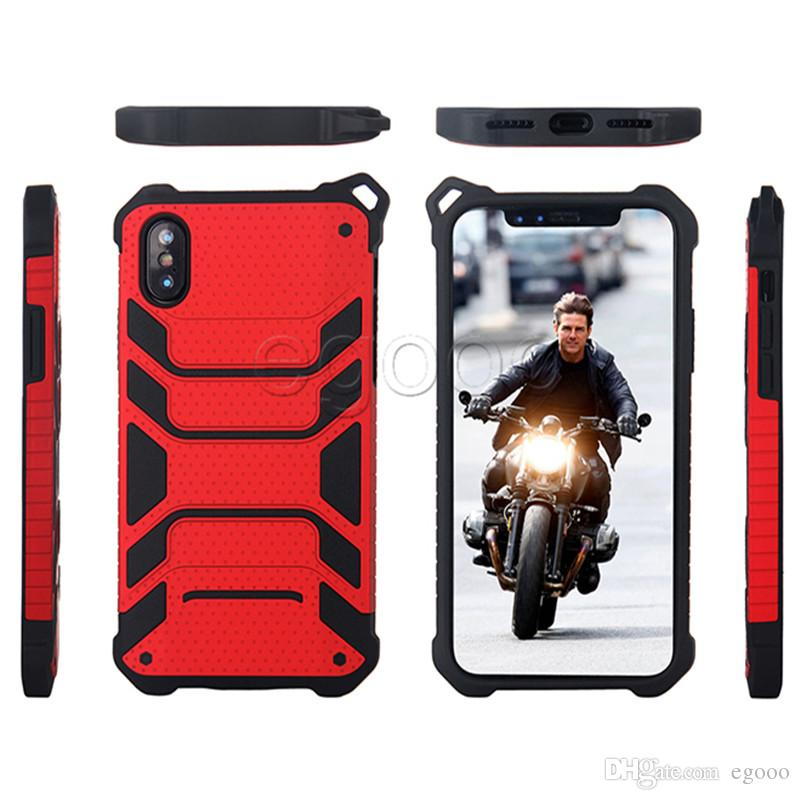 جديد الهجين درع حالة طبقة مزدوجة صدمات الهاتف حالة تغطية ل iphone x xs ماكس xr 8 7 6 6 ثانية زائد 5 سومسونغ note8 s7 حافة s8 زائد