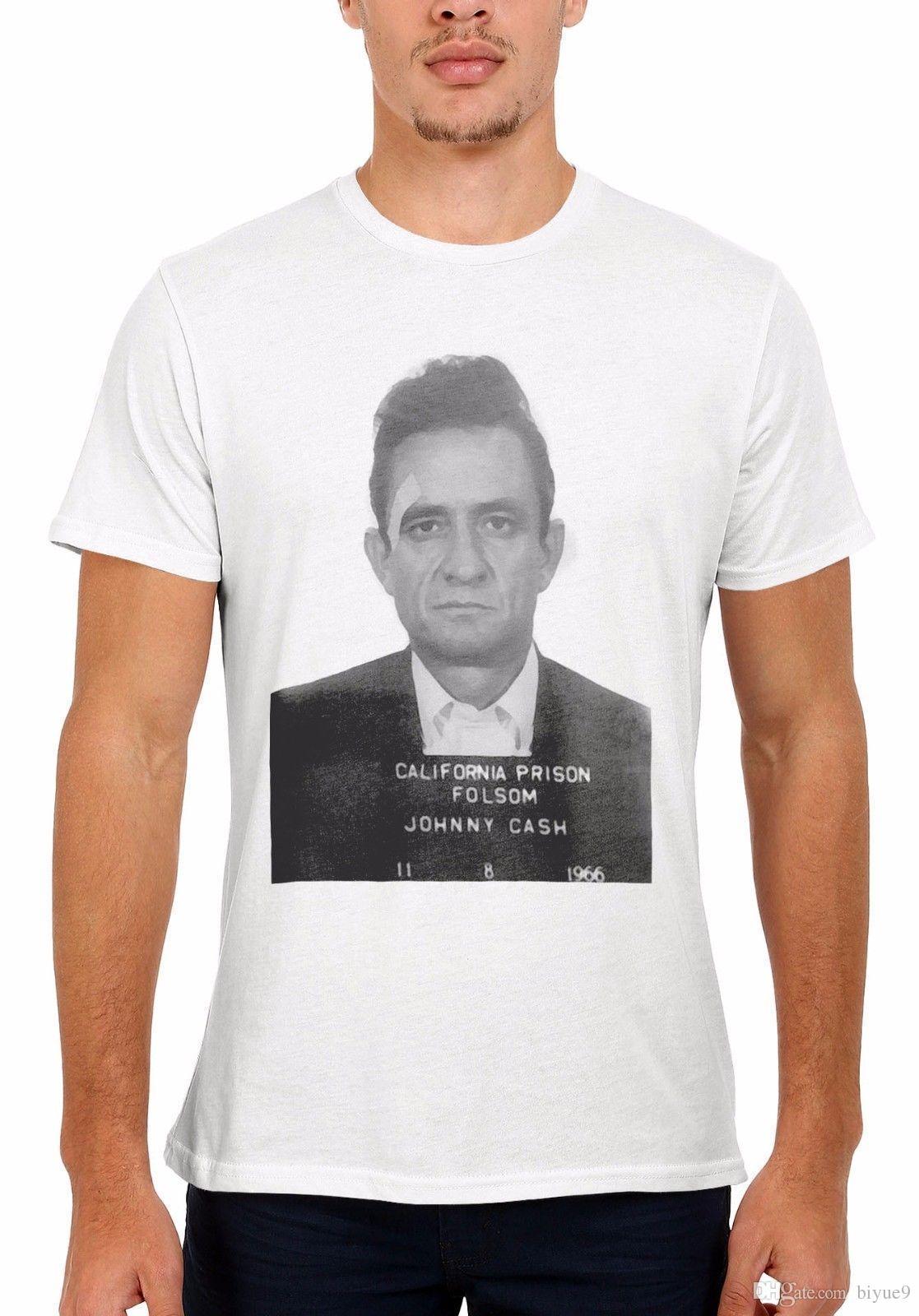 7a80bd08f03e89 Johnny Cash Mugshot Men Women Vest Tank Top Unisex T Shirt 2039 Short  Sleeve Round Neck T Shirt Promotion Funny Vintage T Shirts T Shirts From  Biyue9