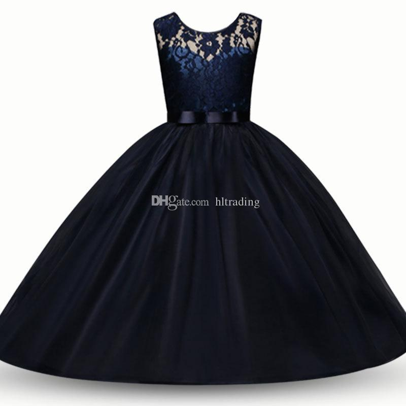 Baby flower dress TUTU lace Princess dresses 2018 new fashion summer Kids Clothing Boutique girls Ball Gown C3547