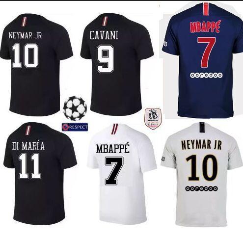 bedfb06fc3 Maillot De Foot Neymar 2018 2019 Ligue 1 PSG Champion League Patch ...