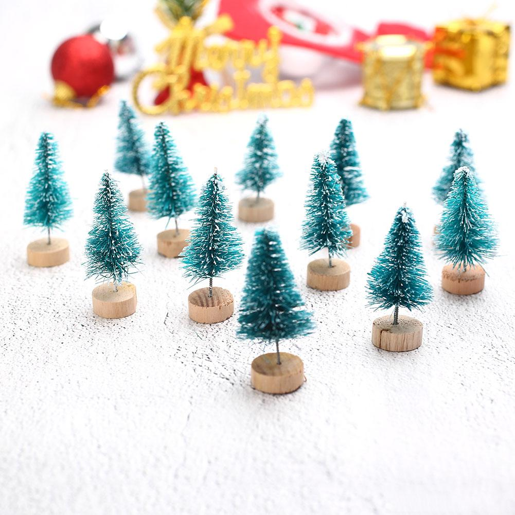 cute mini sisal fiber christmas tree festival diy craft desktop decorations cheap xmas decorations online christmas accessories from aozhouqie