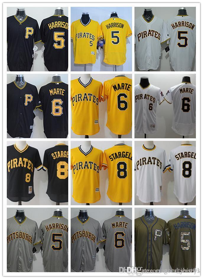 952ea4c2e 2019 Custom Men Women Youth Pittsburgh Pirates Jersey  8 Willie Stargell 6  Starling Marte 5 Josh Harrison Home Black Yellow Baseball Jerseys From ...