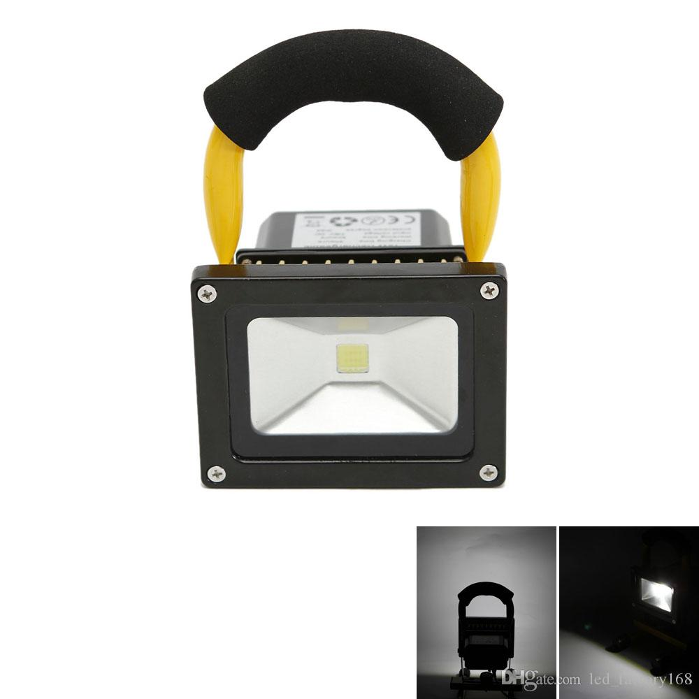 outdoor lights for sale hanging 2018 hot sale outdoor lighting floodlights 10w dc7 9v 6500k chargeable white light led project lamp yellow shell 8h led exterior flood lights motion