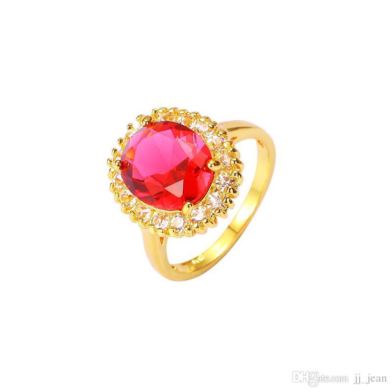 calzature moderno ed elegante nella moda nuovi oggetti Gli anelli placcati oro giallo brandnew 24K amano le coppie di lusso di  cristallo di zircon dei gioielli per le donne degli uomini un regalo caldo  di ...